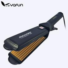 Electronic Hair Straightener Fluffy flat iron corrugated Iron styling tools 220V corrugation flat irons wave styling tools