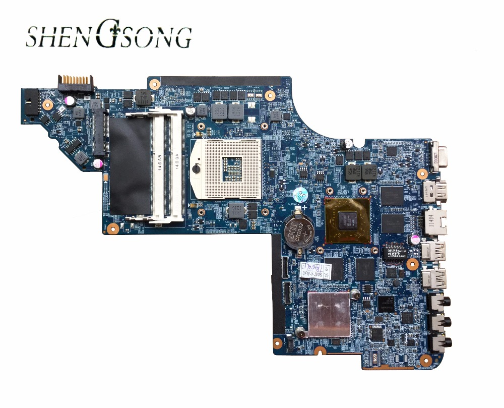 Free shipping laptop Motherboard For hp DV6 DV6-6000 Motherboard 650800-001 for with HM65 HD6770 650851 001 laptop motherboard for hp dv6 dv6 6000 laptop motherboard 100% tested 60 days warranty