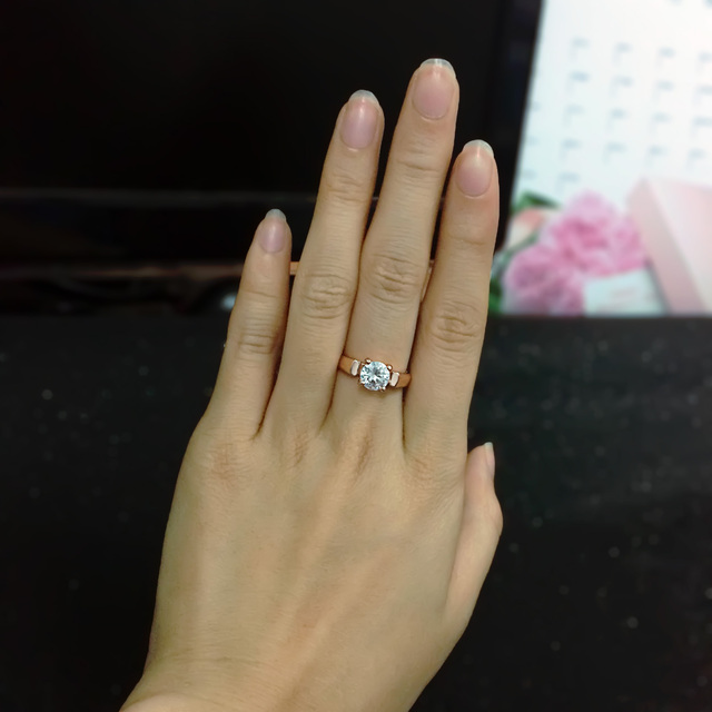 Double Fair 1.25 Carat Round Cut Cubic Zircon Engagement Rings Silver/Rose Gold Color Wedding Jewelry For Men/Women Anel DFR054 1