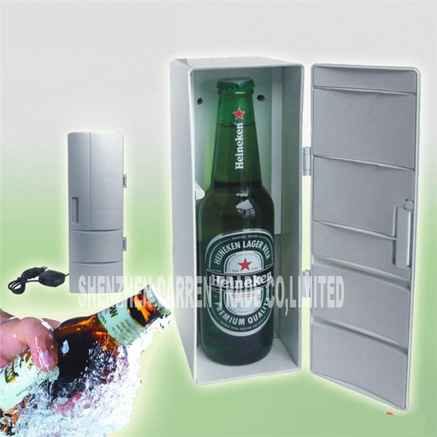 Mini USB Fridge Office Desktop PC Car Refrigerator Freezer Beverage Can Drink Cooler DC5V Plug & Play Portable Practical 16PCS