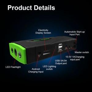 Image 5 - 16800 mAh Portable voiture saut démarreur batterie externe haute capacité démarrage dispositif Booster 600A 12 V voiture démarreur chargeur de batterie Booster