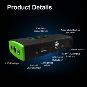 Image 5 - 16800mAh Portable Car Jump Starter Power Bank High Capacity Starting Device Booster 600A 12V Car Starter Battery Charger Booster