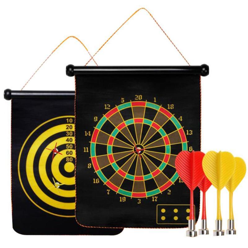 Liberaal Massaal Magnetische Dartbord Dubbelzijdig Darts Plaat Kids Veiligheid Spel Speelgoed Veiligheid Dart Naald Voor Indoor Spel Hoge Kwaliteit Goede Warmteconservering