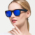 TR90 Unisex Quadrado óculos de Sol Da Marca Lente Polarizada Espelho Motorista Óculos de Sol Masculinos Eyewears Acessórios Para Mulheres/Homens gafas 8003