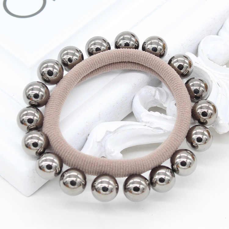 New Hot Sale Women Girls Pearl Elastic Hair Bands Seamless Hair Rope Charming Hair Band Hair Accessories