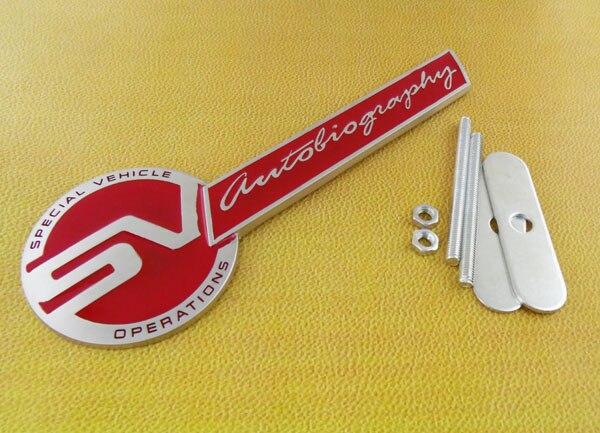 Авто серебряный операции Красный СВ автобиографии передняя решетка решетка значок эмблема