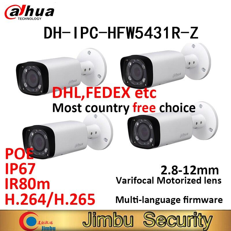 大華 4MP IP 弾丸カメラ 4 個 IPC HFW5431R Z IR80m H.265 POE 交換 IPC HFW4431R Z varifocus レンズ 2.8 〜 12 ミリメートル電動ズーム  グループ上の セキュリティ & プロテクション からの 監視カメラ の中 1
