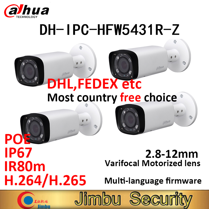 Dahua 4MP IP bullet Camera 4pcs IPC HFW5431R Z IR80m H.265 POE vervangen IPC HFW4431R Z varifocus lens 2.8 ~ 12mm Gemotoriseerde zoom-in Beveiligingscamera´s van Veiligheid en bescherming op AliExpress - 11.11_Dubbel 11Vrijgezellendag 1