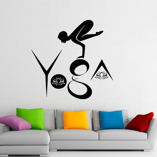 DCTOP Yoga Wall Stickers Creative Design Modern Wall Decals Home ...