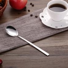 CHANOVEL 1-piece 304 Stainless Steel  Kitchen Utensils Long Handle Dessert Coffee Stirring Spoons Fruit Juice Mixing Spoon