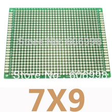 5pcs/lot 7*9cm Double Side Prototype PCB Universal Printed Circuit Board DIY Experimental Plate Protoboard For Arduino