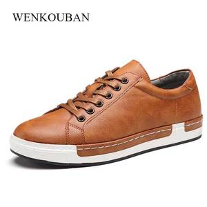 Image 5 - Trend Retro Casual Shoes Men Breathable Sneakers Leather Flat Shoes Men Vulcanize Shoes Outdoor High Quality Footwear Size 38 46