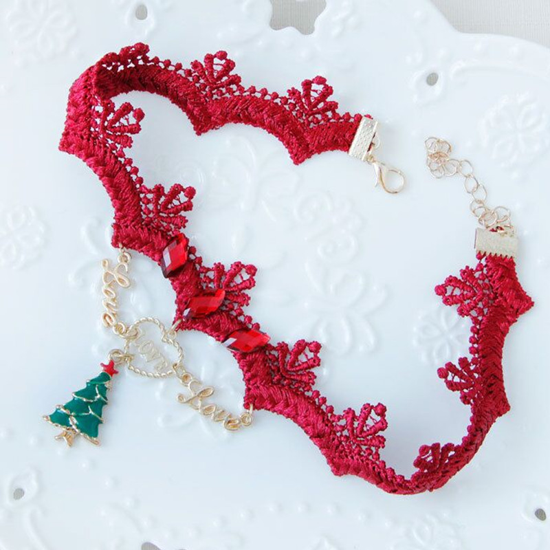 Sexy lace push up bra sets bra+panties+garter+stockings+necklace Christmas 5 Pcs/Lots - underwear