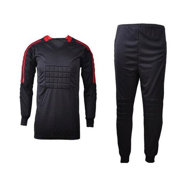 Negro puede DIY nombre personalizado Num hombres portero de fútbol  camisetas de equipo de fútbol portero 30adcdbe6a536