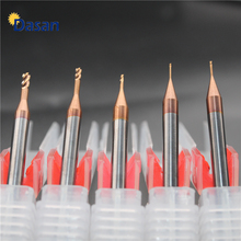 1pc Long Neck End Mill 0.5mm 0.6mm 0.7mmTungsten Carbide Groove Milling Cutter CNC Engraving Deep Hole for Metal