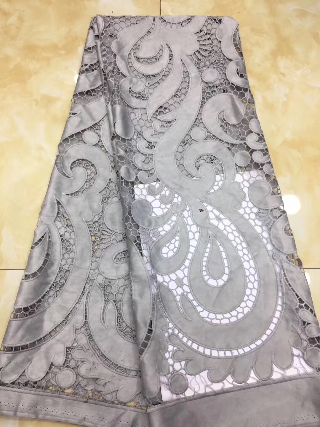 Wholesales Latest African Voile Laces 2019 Arican Dry Cotton Lace Fabric Embroidery Swiss Voile Lace Fabric For Cloth DP51