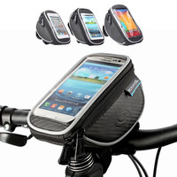 New Waterproof Cycling Bike Bicycle Front Top Frame Handlebar Bag Touch Screen Cell Phone Pocket For