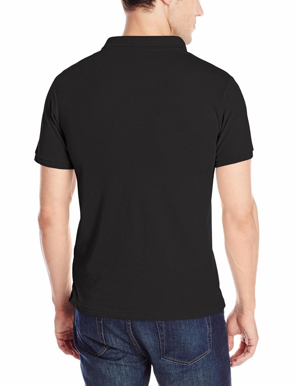 2018 Mens Polo Shirt Space Jam Print Polo Shirts Mens Shirts Camisa Polo Black White Cotton T-Shirts Top
