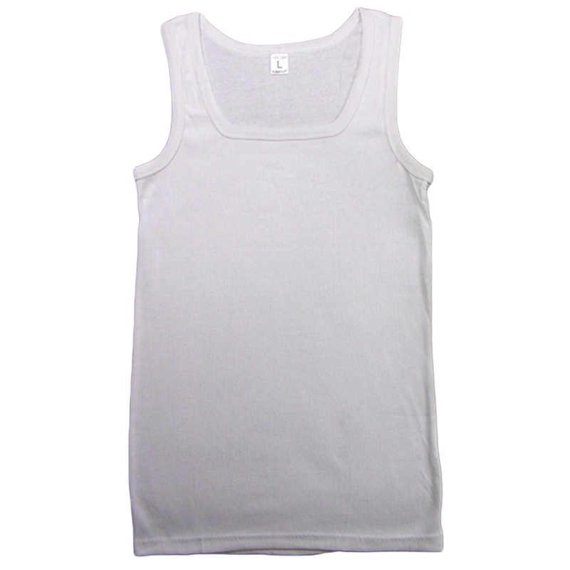 Camiseta sin mangas para hombre, ajustada, elástica, informal, con cuello cuadrado, transpirable, tipo H, totalmente de algodón, camisetas sin mangas sólidas para hombre