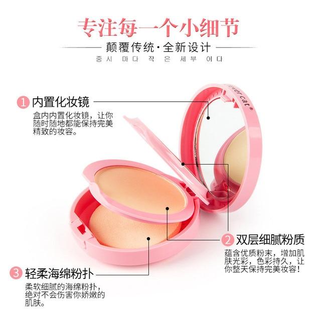 Cartoon Face Base Pressed Powder Matte Concealer Contour Palette Whitening Oil Control Foundation Powder 3