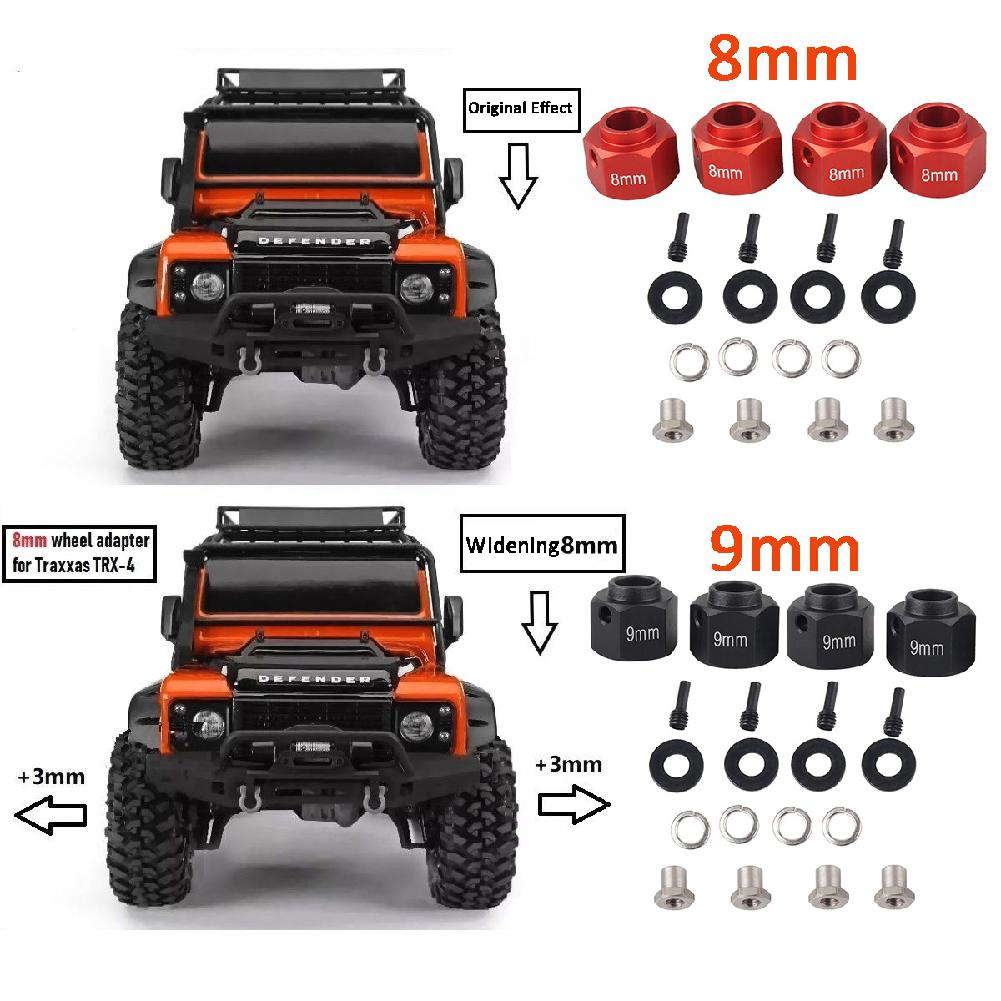 Alloy Side Pedal Footplate Kits für Traxxas TRX 4 1//10 RC Rock Crawler Car