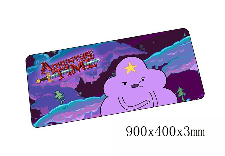 Adventure Time mouse pads 900x400x3mmpad to mouse notbook computer mousepad gaming padmouse gamer to locrkand keyboard mouse mat