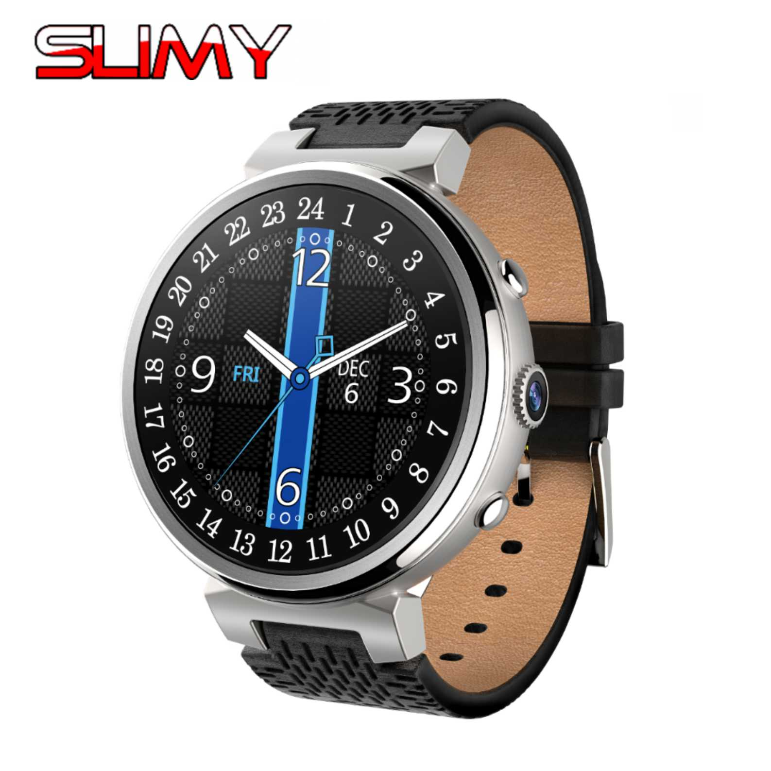 Slimy Smart Watch Android 5.1 OS MTK6580 2GB/16GB 2MP Camera Heart Rate Monitor Smartwatch Wifi 3G SIM Card GPS Smartwatch Men smart watch h1 android 5 1 os smartwatch mtk6572 512mb 4gb gps sim 3g heart rate monitor camera waterproof sports wristwatch