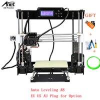 Anet A8 Настольный 3D принтеры черный стандарта ЕС, США, Великобритании США PLUG металлический экструдер сопел акриловые 3D принтеры DIY Kit с SD карты