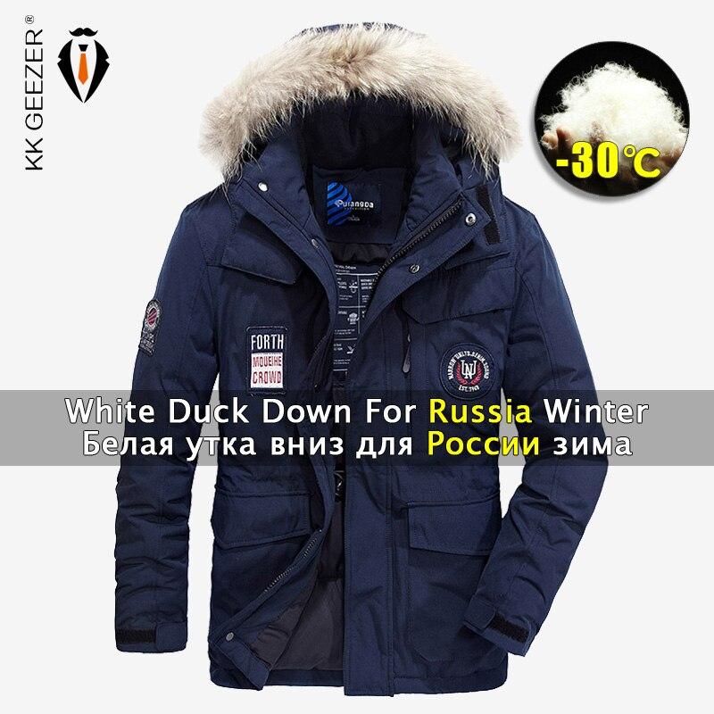 Erkek Kıyafeti'ten Ceketler'de Kış Ceket Aşağı Erkekler Parka 80% Beyaz Ördek Ceketler Yastıklı M 4XL 2019 Kalın Kaput Markalar Mont moda ışık Sıcak Büyük Boy parkas'da  Grup 1