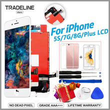Display For iPhone 5S 7 Plus 7 LCD Grade AAA 100% No Dead Pixel FOR iPhone 8 7 Plus Pantalla Assembly Replacement With 3D Touch стоимость
