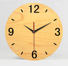 070343 mute wall clock fashion creative personality wood home decoration times quartz morden design saat reloj de pared horlose