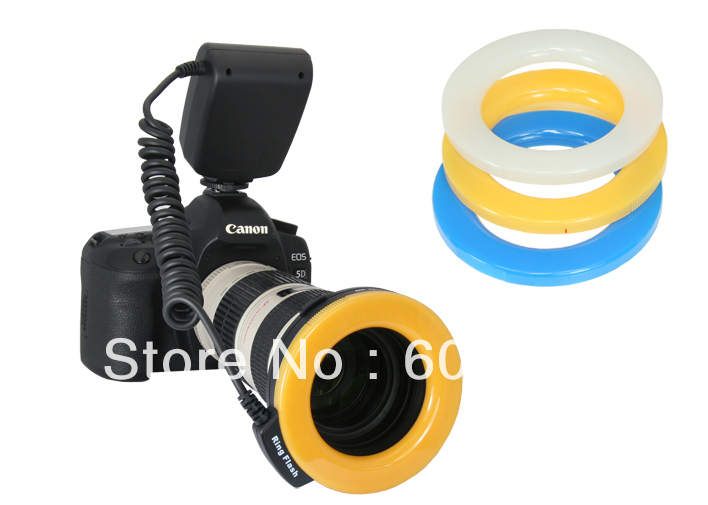 Wholesales Macro O Ring 48 LED Flash Light for 49 52 55 58 67 72 77mm