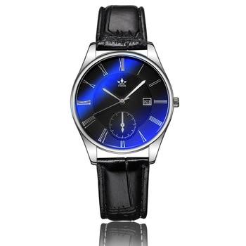 Элитный бренд часы Для мужчин классический кожаный ремень кварцевые часы модные спортивные часы Для мужчин Повседневное наручные часы relogio...