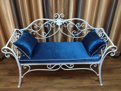 Continental Hierro balcón Ocio sofá silla muebles de jardín parque ...