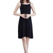 YJSFG HOUSE Hot Sale Ladies Slips Modal Women Plus Full Camisole Dress Underdress Petticoat Intimates White
