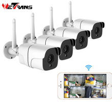 Wetrans Беспроводная система безопасности 1080 P ip-камера Wifi SD карта Открытый 4CH аудио система видеонаблюдения комплект Камара