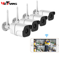 Wetrans Wireless Security Camera System 1080P IP Camera Wifi SD Card Outdoor 4CH Audio CCTV System Video Surveillance Kit Camara