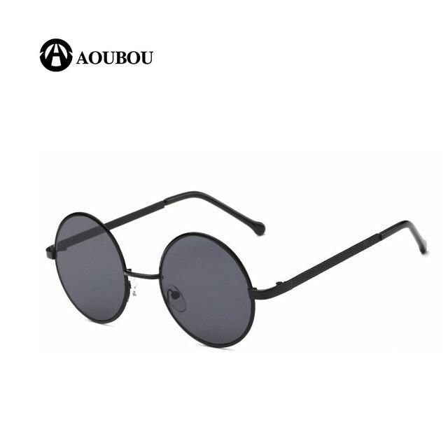 65aba64bb2e4 Солнцезащитные очки мужчин, плоский верх Ретро металлическая круглая  оправа, цветные линзы, Солнцезащитные очки
