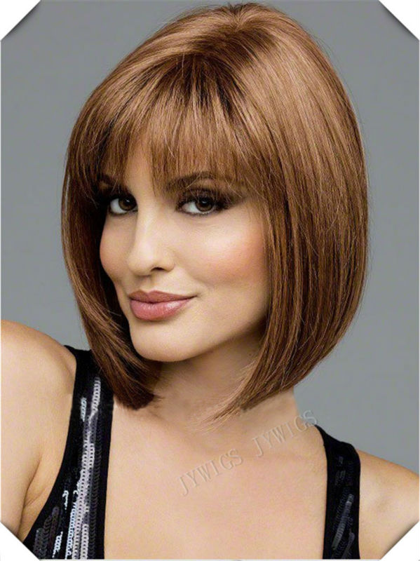 Middle Part Bob Wig Synthetic Women S Bob Perucas Lady