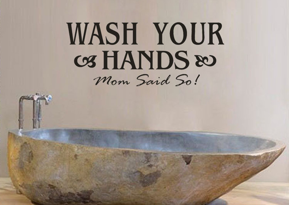 Diy Wash Your Hand Art Wall Stickers Vinyl Removable Decals Mural Home Bathroom Sink Handbasin Remind Sticker Sign 2016 In From