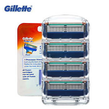 Original Gillette Fusion Shaver Razor Blade Replacement Head For Men Professional Brand Manual Safety Shaving Blades 4pcs - DISCOUNT ITEM  60% OFF All Category