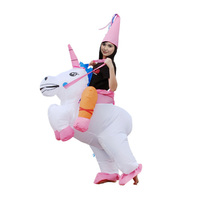 Inflatable Unicorn Costume Inflatable Pegasus Mascot Costume Fancy Suit Halloween Party Festival Dress For Adult