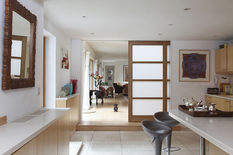 Glass lacquer wooden composite door, double leaf, indoor