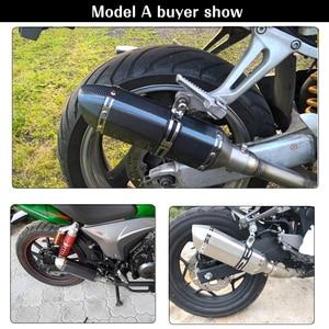 Image 5 - ZSDTRP Universal Motorrad dirt bike auspuff flucht Geändert Roller AK Auspuff Muffel Fit für die meisten motorrad ATV
