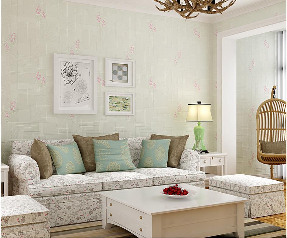 Slaapkamer Arabische Stijl : Eenvoudige pastorale stijl verticale gestreepte behang slaapkamer