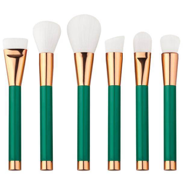 GUJHUI Hot 15PCS Cosmetic Brush Professional high quality Face Powder Brusher Top Foundation Eyeshadow Makeup Brush Tool Kits top quality foundation brush angled makeup brush