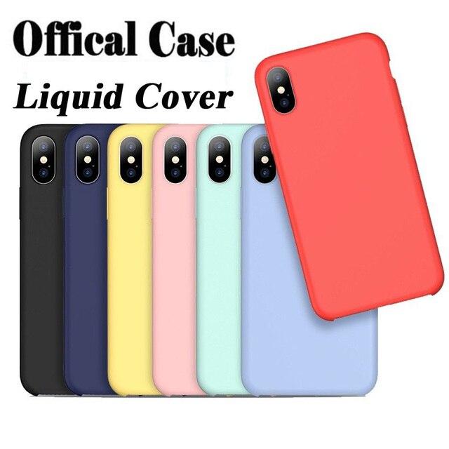 quality design 63311 e3134 US $5.99 |For iPhone XS Case Official Liquid Silicon Case for iPhone X XS  Max XR Case 7Plus 8Plus 7 8 6 6sPlus Original Liquid Rubber Case-in Fitted  ...