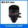 Объектив видеонаблюдения с переменным фокусным расстоянием  5 МП  6-22 мм  M12 крепление 1/2  5 дюймов  ручной фокус и зум для 1080 P/4 МП/5 Мп IP/AHD камеры...