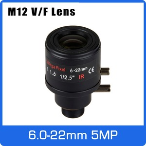 Image 1 - 5Megapixel Varifocal CCTV Lens 6 22mm M12 Mount 1/2.5 inch Manual Focus and Zoom For 1080P/4MP/5MP IP/AHD Camera Free Shipping