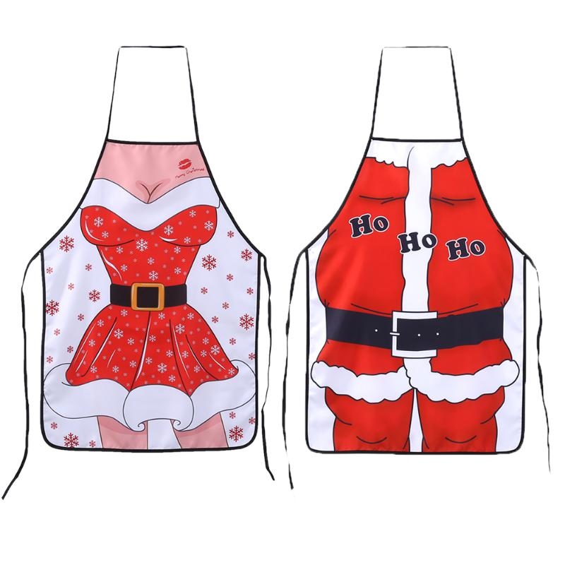 christmas aprons adult santa claus aprons women and men dinner party cooking apron christmas party event - Christmas Apron